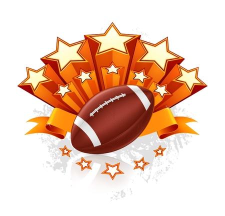 american football background: American Football Emblem