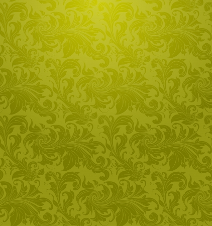 Green Seamless wallpaper pattern Stock Vector - 13696139
