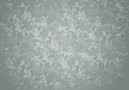 Grey Grunge Vintage pattern Stock Vector - 13696203