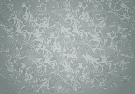swirly: Grey Grunge Vintage pattern