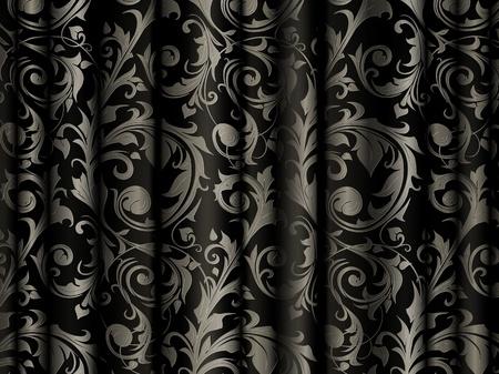 black silk: Luxury Background Illustration