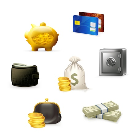 Money Icon Set Stock Vector - 13696255