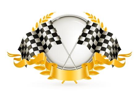 Silver Racing Emblem Stock Vector - 13696240
