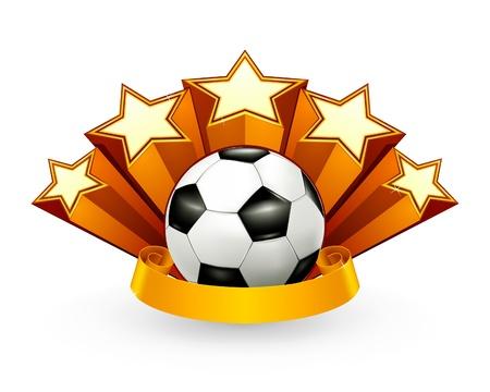 play popular: Soccer Emblem Illustration