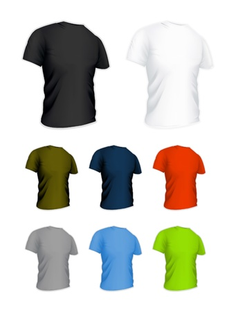 blank t shirt: T-shirt on the white, set Illustration
