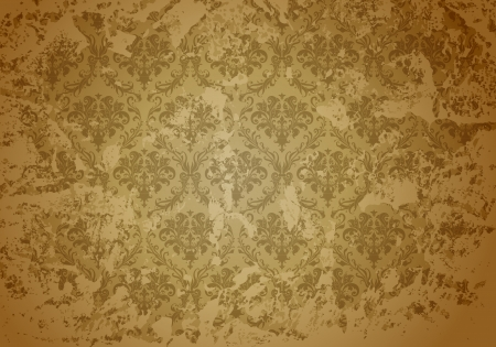 Brown wallpaper pattern Vector