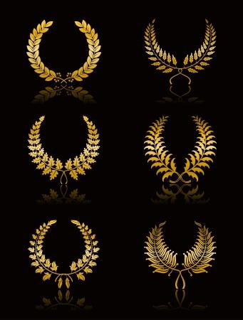 black wreath: Set of Wreath