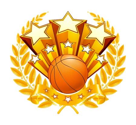 Basketball Emblem Vector