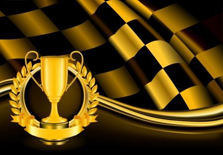 trophy winner: Champion pozadí Ilustrace