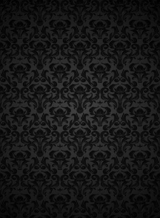 papier peint noir: Motif de papier peint sans soudure