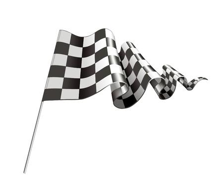 bandera carrera: Bandera a cuadros Vectores