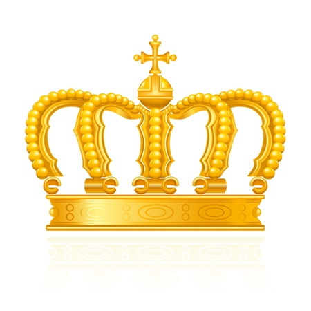 yellow crown: Crown Illustration