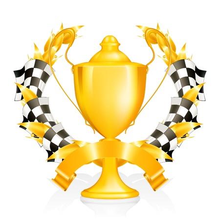 checkered flag: Emblem Racing