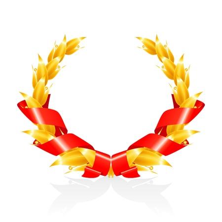 laurel leaf: Corona de laurel