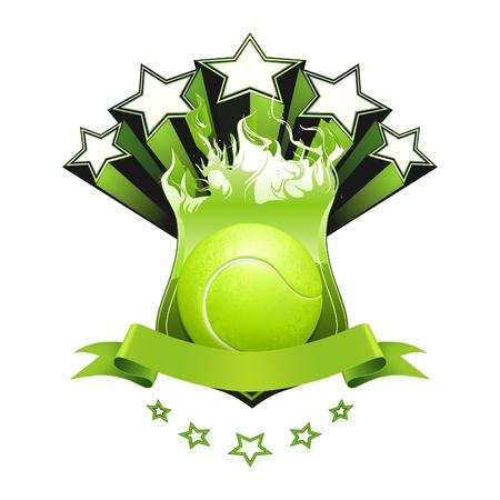 fitness ball: Tennis emblem