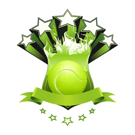 play tennis: Tennis emblem