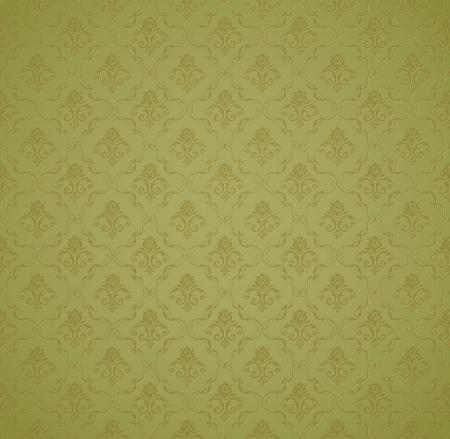 damask background: Green Seamless wallpaper pattern
