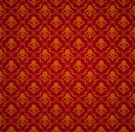 Red Seamless wallpaper pattern Stock Vector - 13738606