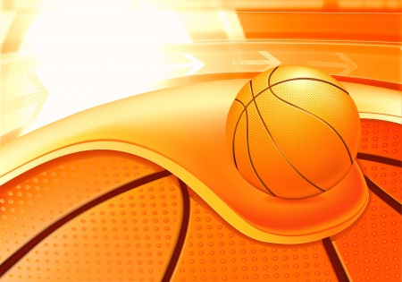 Sports Background, Basketball Vector