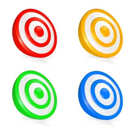 circulos concentricos: Botones de destino