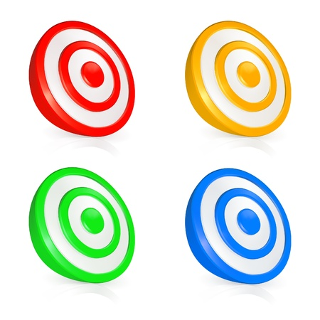 Target buttons Stock Vector - 13738263