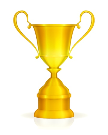 Gold trophy Stock Vector - 13738259