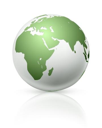 south east asia: White globe