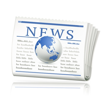 tabloid: World news icon Illustration