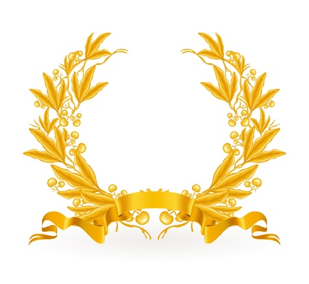 Gold Laurel Wreath Stock Vector - 13738617
