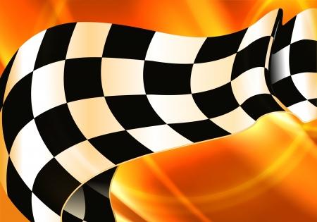 finishing checkered flag: Background Horizontal Checkered Illustration