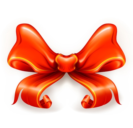 Red Bow Stock Vector - 13739182