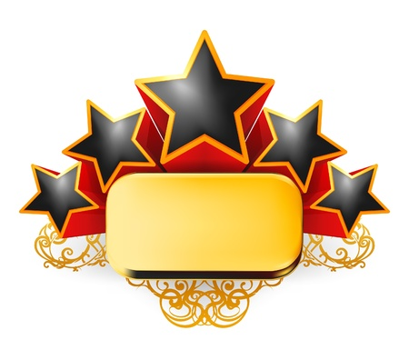 estrellas: Emblema de la vendimia Vectores