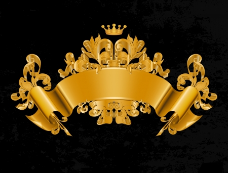 royal crown: Vintage Emblem, Vector Illustration