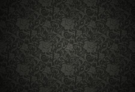 Black Seamless wallpaper pattern Stock Vector - 13750965