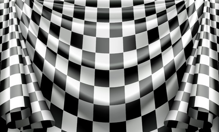 finishing checkered flag: Checkered Curtain