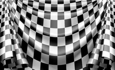 cuadros blanco y negro: Cortina de cuadros