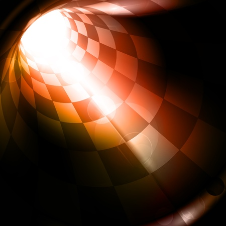 Checkered tunnel Stock Vector - 13750980