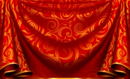 Curtain pattern Vector