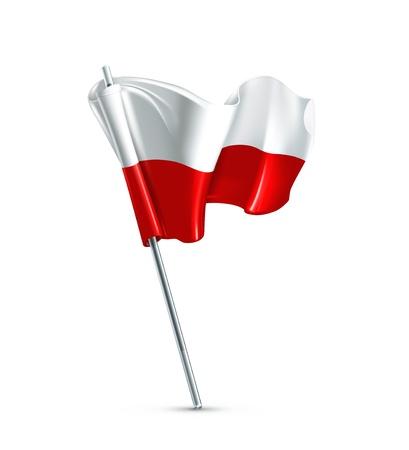 poland flag: Flag of Poland Illustration