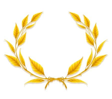laurel leaf: Corona de laurel, elemento de dise�o