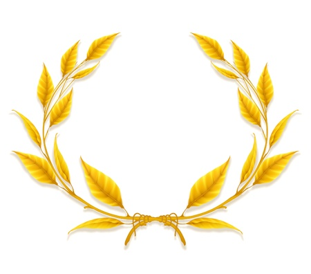 Laurel Wreath, Design Element Illustration