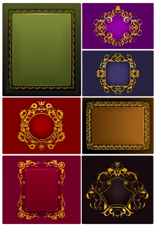 Frames Vintage, set Stock Vector - 13759027