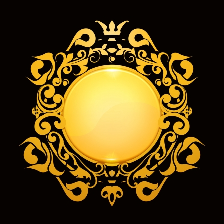 Gold Frame Stock Vector - 13759014