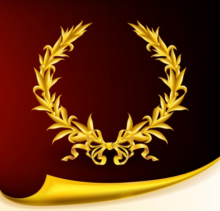 Rich golden wreath Stock Vector - 13759054