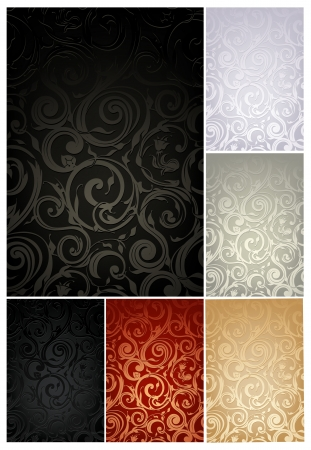 luxury template: Seamless Wallpaper Pattern, set of six colors