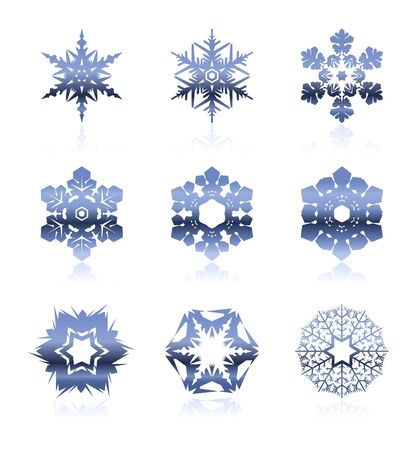 Set of snowflakes Stock Vector - 13759012