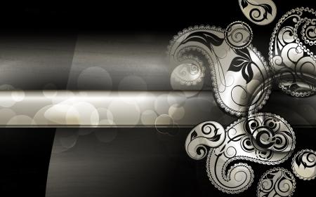 black lace: Black Paisley Pattern background