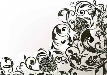 Black decor Illustration