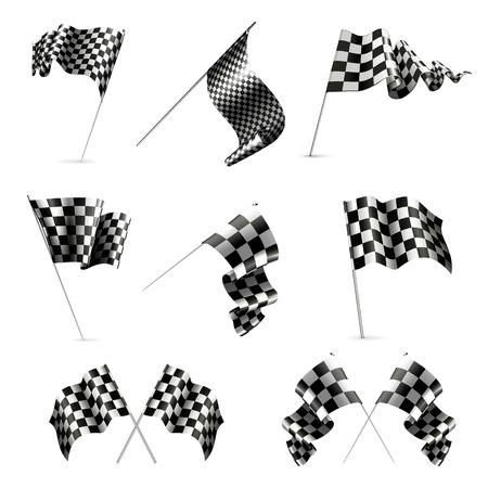 Checkered Flags set Stock Vector - 13759039