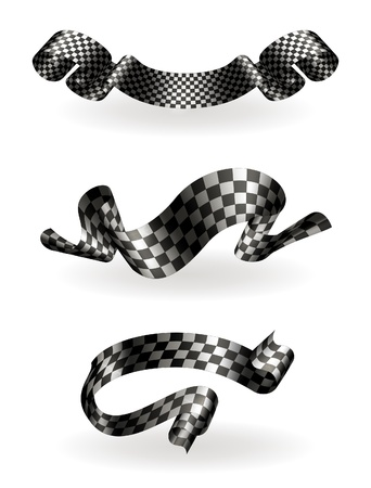 Checkered ribbons set Stock Vector - 13759035
